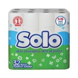 ტუალეტის ქაღალდი სოლო 2 ფენა,,Solo 32 ც