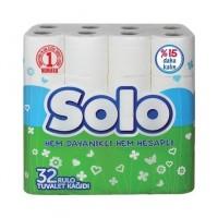 ტუალეტის ქაღალდი 2 ფენა,,Solo 32 ც